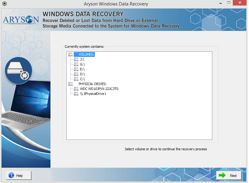 Aryson Windows Data Recovery