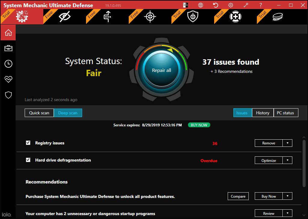 Iolo System Mechanic - pc tune up software