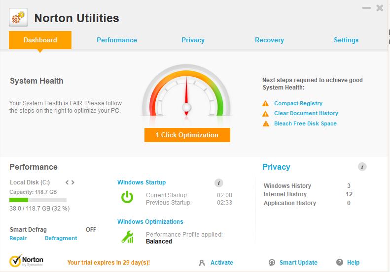 Norton Utilities- PC booster software