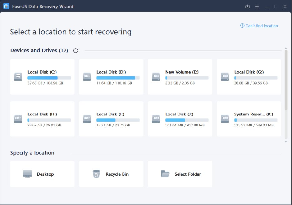 Use EaseUS Data Recovery Wizard