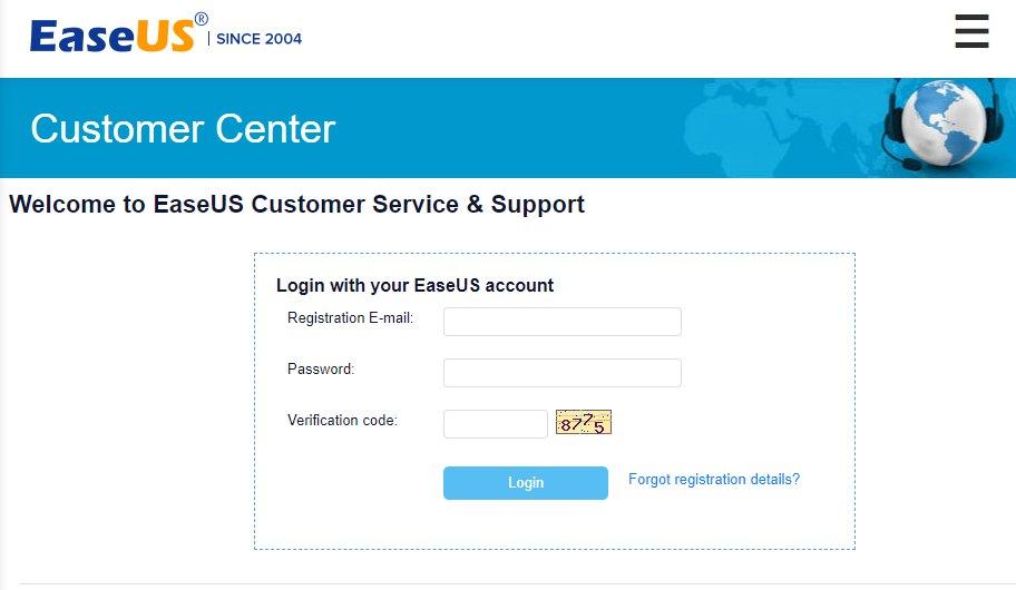 customer service EaseUS Data Recovery Wizard