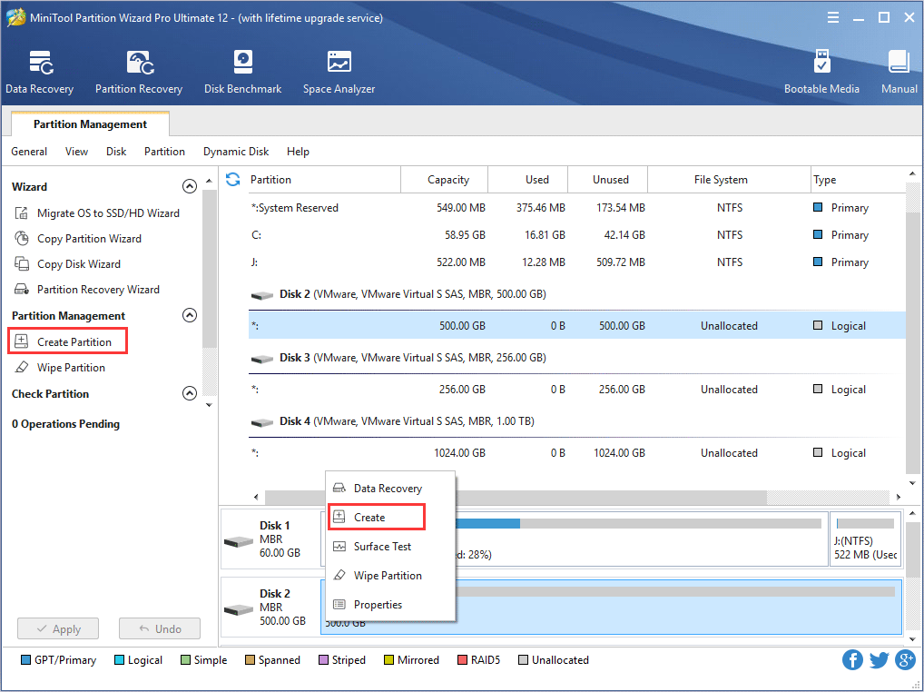 MiniTool Partition Wizard, free disc imaging software