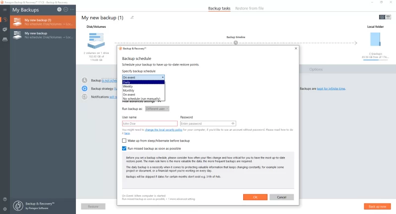 Paragon Backup & Recovery Free, best free hard drive cloning