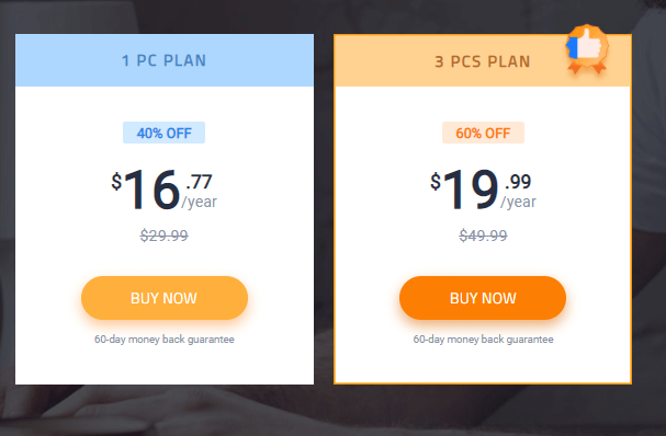 pricing of advanced system care
