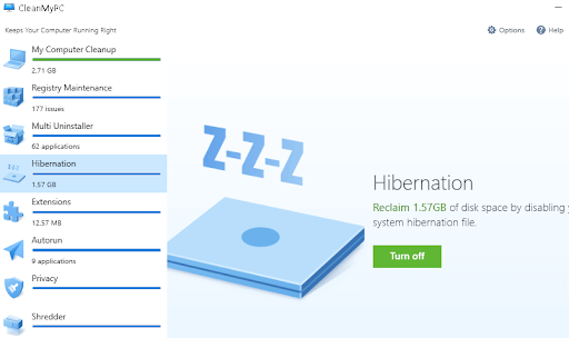 Hibernation, memory optimizer