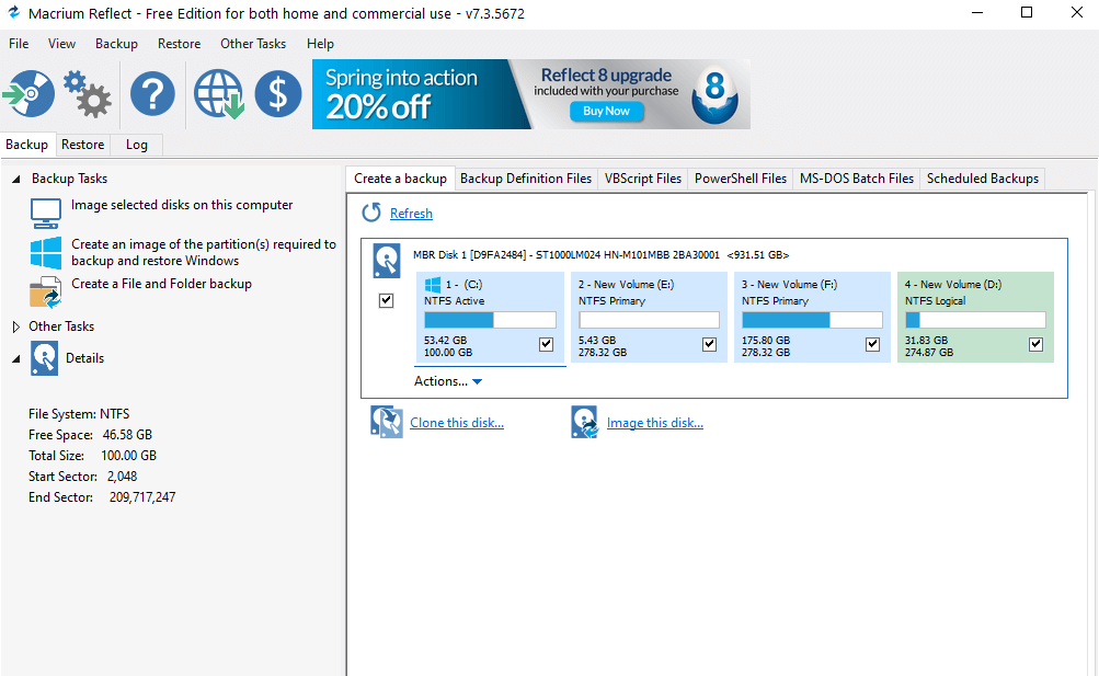 Macrium Reflect 7, free disk imaging software