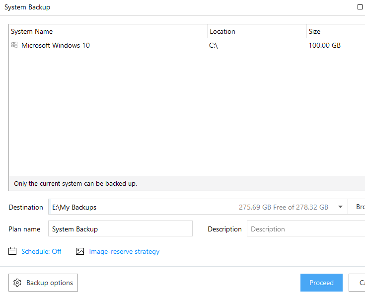 System Backup with easeus todo backup software