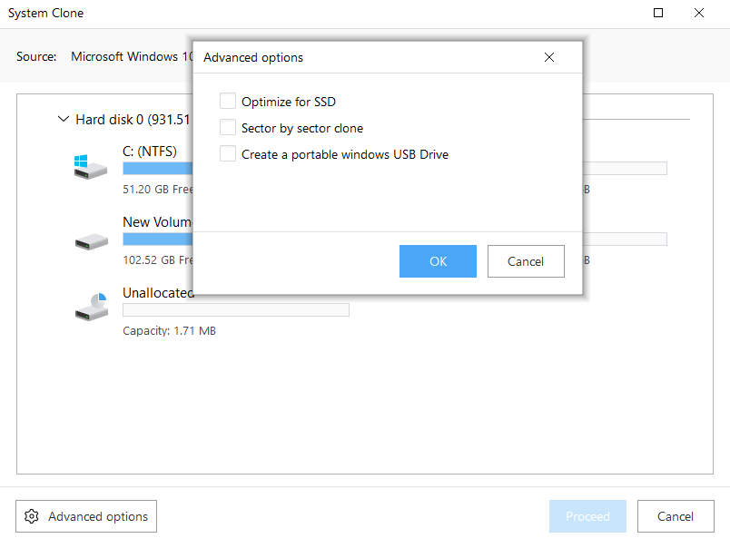 System Clone, easeus todo backup cloning