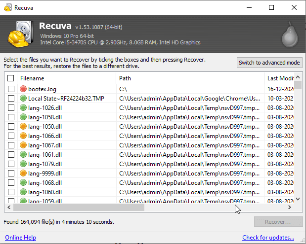 Undelete File On Your Computer