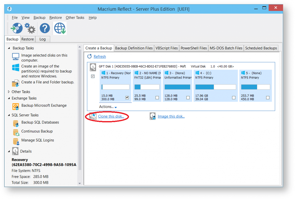 click on Clone this disk, disk cloning software