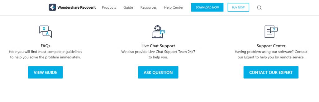 customer support of wondershare