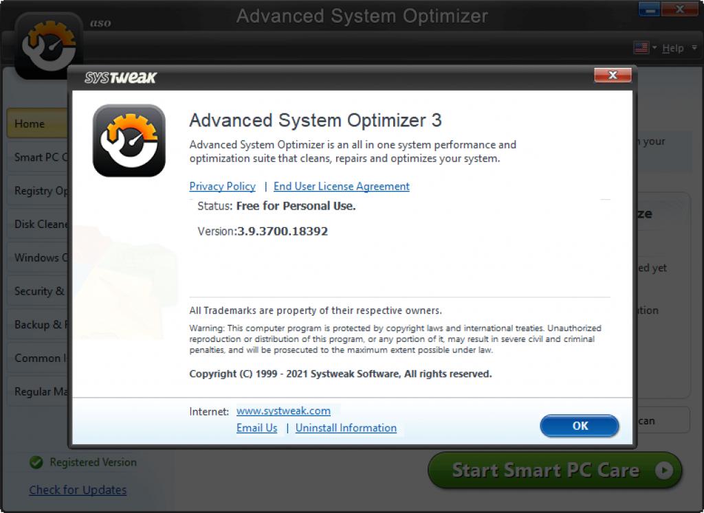 free advanced system optimizer