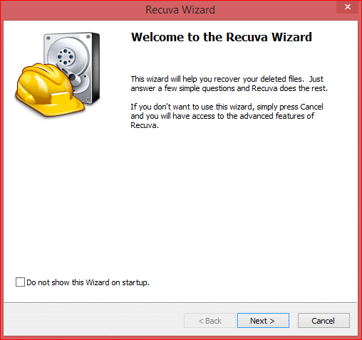 recuva data recovery wizard
