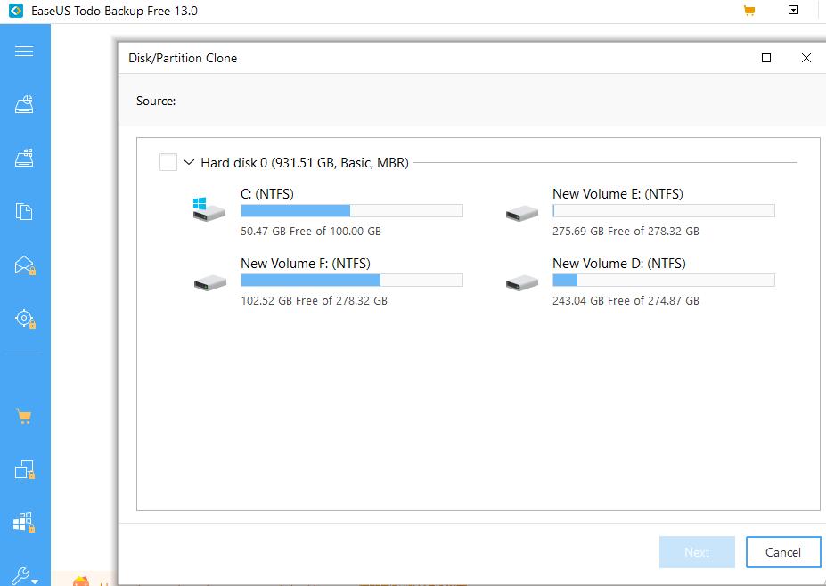 source hard disk, disk imaging software