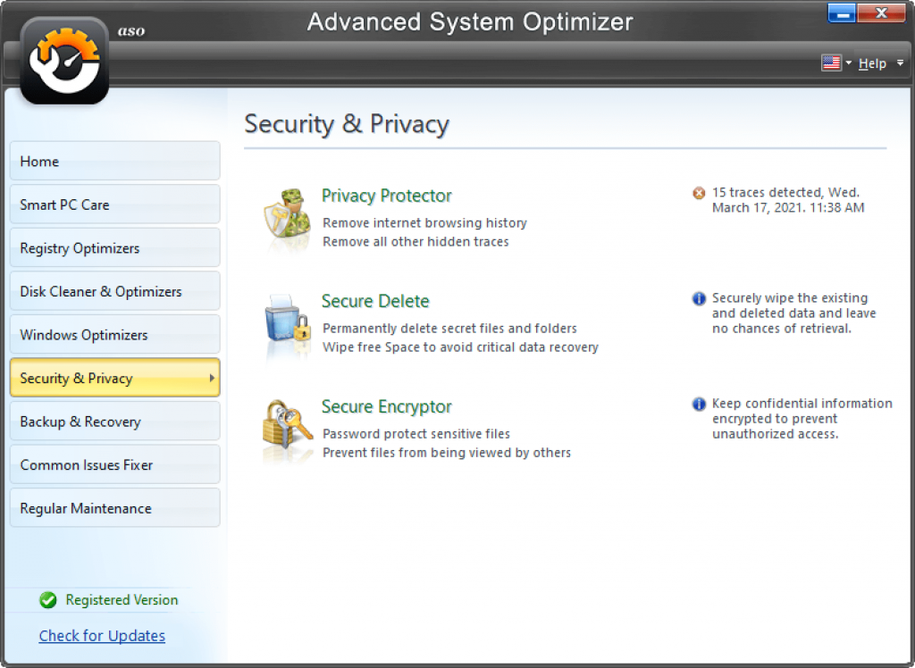 system security advanced system optimizer