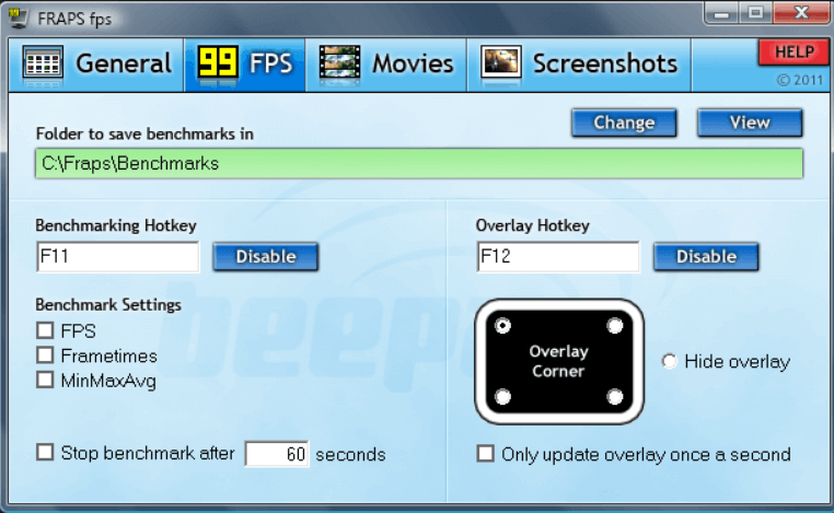 FRAPS software, PC Benchmarking Software