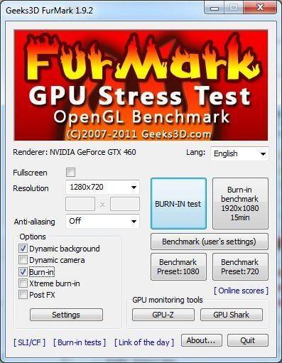 FurMark GPU Speed Testing tool
