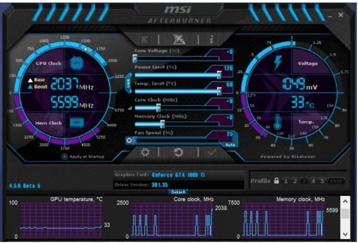 MSI Afterburner Software, CPU Benchmarking tool
