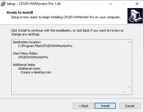 install HWMonitor software