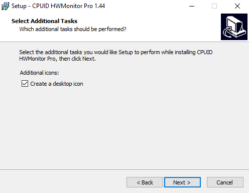 shortcut for CPUID Hardware monitor