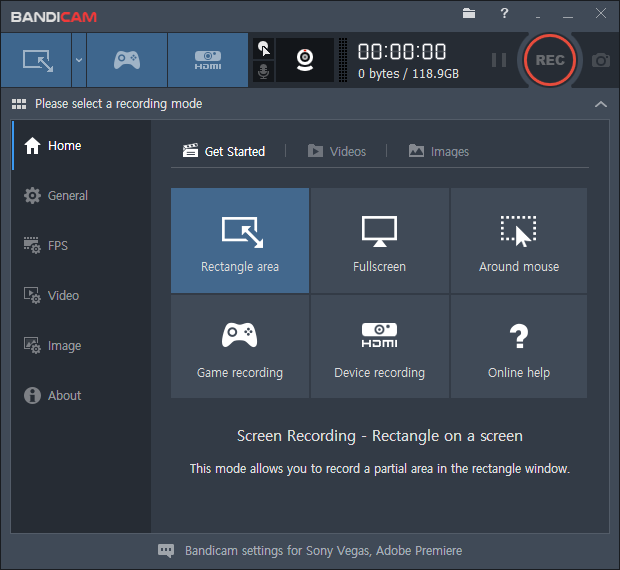 Bandicam screen recorder, screen recorder with audio for pc