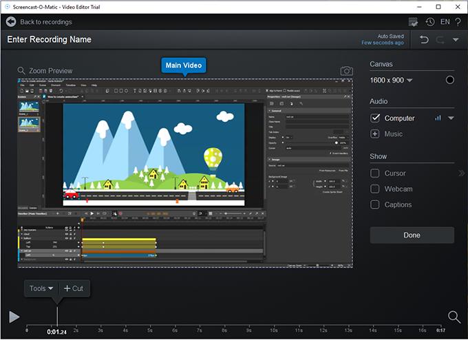 Sceencast-O-Matic-video-editor, desktop screen recorder