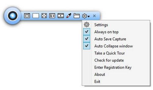 TweakShotScreenCapture, free screen recorder for windows