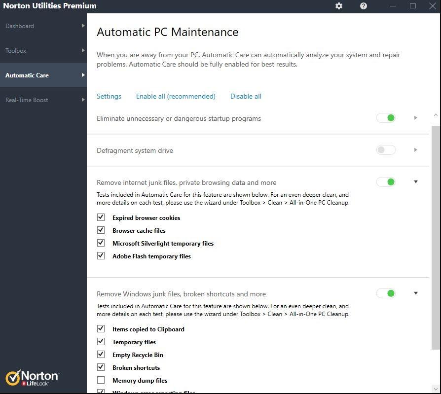 automatic pc maintenance