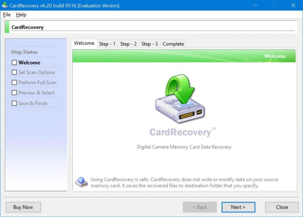 Card Recovery: image recovery software