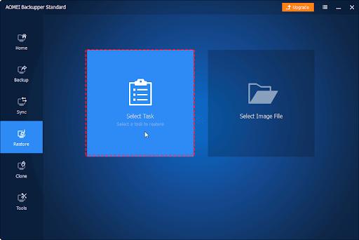 AOMEI Backupper standard: free disk cloning software for Windows