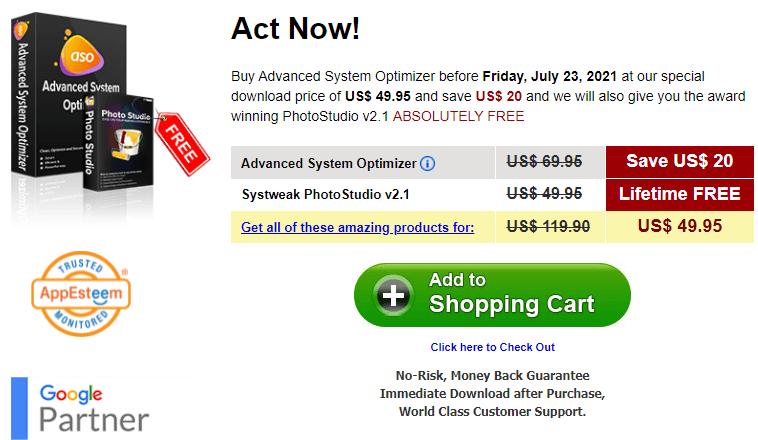 Advanced System Optimizer Price