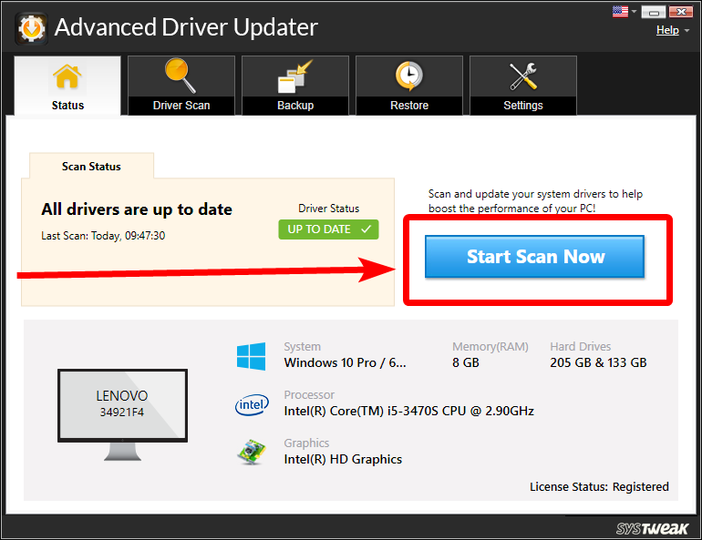 Launch Advanced Driver Updater