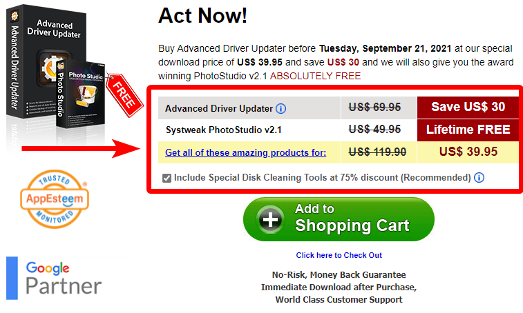 advanced driver updater pricing