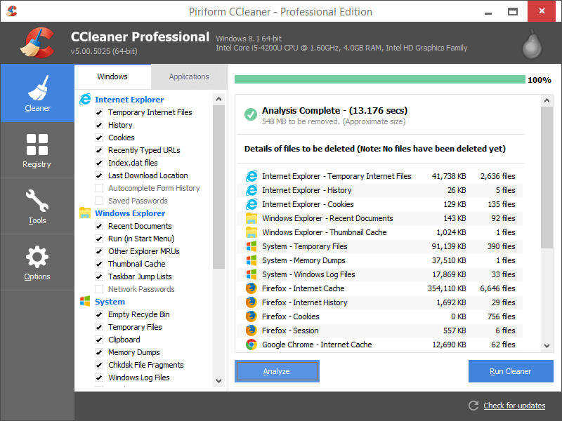 CCleaner Pro, PC cleaning tool