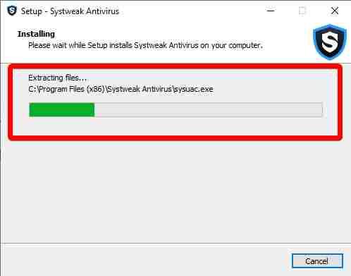 Installation of systweak antivirus